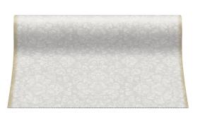 """Bieżniki flizelinowe wzorzyste - Bieżnik flizelinowy wzorzyste """"Rocco"""", srebrny / 40cmx24m"""