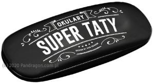 "Prezenty dla Taty - Etui na okulary ""Okulary Super Taty"" / Vintage"