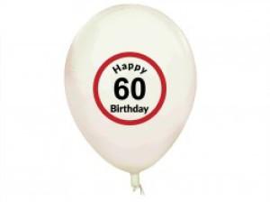 """Balony lateksowe na okrągłe urodziny - Balony na 60 urodziny """"Happy 60 Birthday"""""""