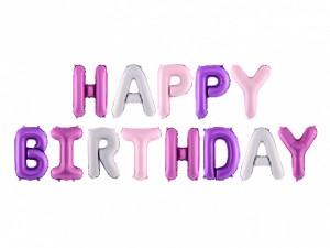 """Girlandy napisy z balonów na powietrze - Balon foliowy napis """"Happy Birthday"""" / FB6P-000"""