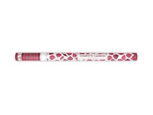 Konfetti wystrzałowe płatki kwiatów - Wystrzałowa tuba konfetti - bordowe płatki róż / 80 cm
