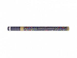 Konfetti wystrzałowe paski - Tuba wystrzałowa konfetti - metalizowane, kolorowe konfetti / 80 cm