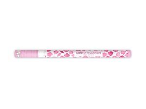 Konfetti wystrzałowe płatki kwiatów - Wystrzałowa tuba konfetti - różowe płatki róż / 80 cm