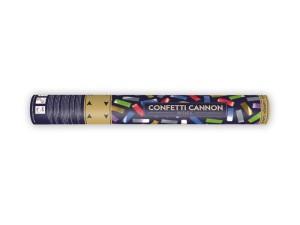 Konfetti wystrzałowe paski - Tuba wystrzałowa konfetti - metalizowane, kolorowe konfetti / 40 cm