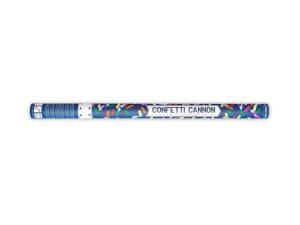 Konfetti wystrzałowe paski - Tuba wystrzałowa konfetti - kolorowe, papierowe konfetti i metalizowane serpentyny / 80 cm