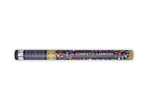 Konfetti wystrzałowe paski - Tuba wystrzałowa konfetti - metalizowane, kolorowe konfetti / 60 cm