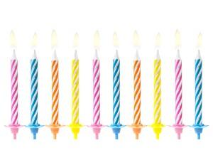 Świeczki proste - Świeczki urodzinowe, mix