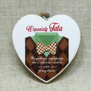 """Prezenty dla Taty - Serduszko drewniane """"Wspaniały Tata"""" / DIL-P-TAB-818-MT-7"""