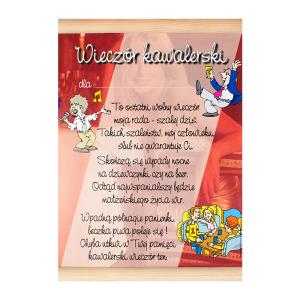 """Kartki na Wieczór Kawalerski - Dyplom na """"Wieczór Kawalerski"""" / WER-DYPLOM-145-KOLOR"""