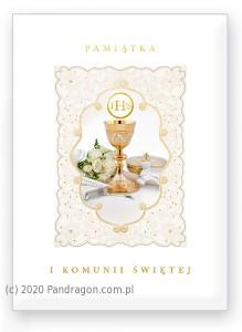 """Kartki i pamiątki i komunijne - Album Komunijny książeczka """"Pamiątka I Komunii Świętej"""" 58.11.13.0 / 33-4"""