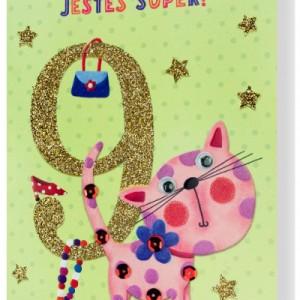 Kartki z życzeniami na 9 urodziny