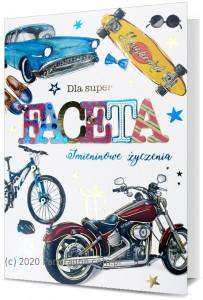 Kartki okolicznościowe uniwersalne - Karnet z okazji imienin dla Faceta / HM200-1756
