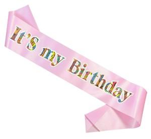 """Szarfy - Szarfa na urodziny  """"It`s my birthday"""" / CH-SIMBJR"""
