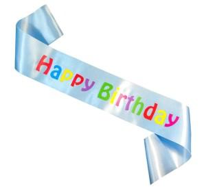 """Szarfy - Szarfa na urodziny """"Happy Birthday"""" / CH-SHBJB"""