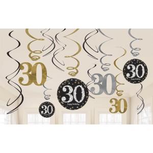 """Girlandy cyfry i liczby - Dekoracja wisząca """"30-Sparkling Celebration"""""""
