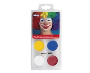 """Farbki do malowania twarzy - Zestaw farbek do twarzy """"Klaun"""""""