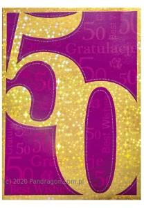Kartki urodzinowe - Kartka na 50 urodziny / K.STAR-4.