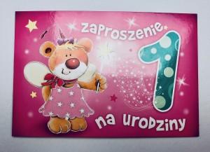 Zaproszenia na urodziny - Zaproszenia na Roczek / Z.C6-519