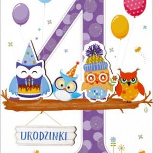 Kartki z życzeniami na 4 urodziny