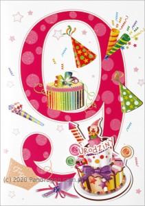 Kartki urodzinowe - Karnet na 9 urodziny / HM-200-999