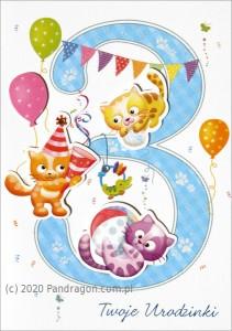 """Kartki urodzinowe - Karnet """"Twoje Urodzinki 3"""" / HM-200-983"""