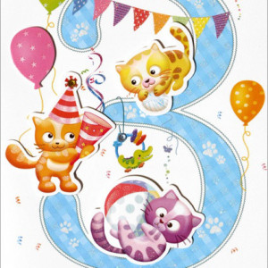 Kartki z życzeniami na 3 urodziny