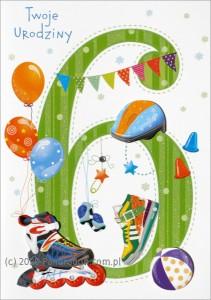 Kartki urodzinowe - Karnet na 6 urodziny / HM-200-986