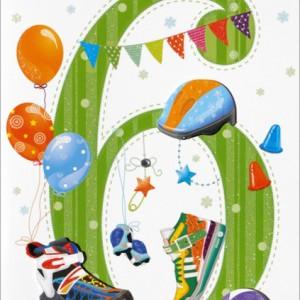 Kartki z życzeniami na 6 urodziny