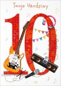 """Kartki urodzinowe - Karnet """"Twoje Urodziny 10"""" / HM-200-1000"""