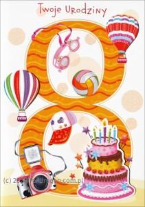 Kartki urodzinowe - Karnet na 7 urodziny / HM-200-998