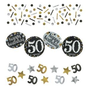 """Konfetti cyfry i liczby - Konfetti """"50 urodziny"""" Sparkling Celebration"""