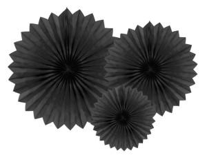 Rozety dekoracyjne - Rozety dekoracyjne, czarny / średnica 20,30 i 40 cm
