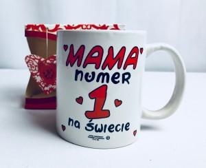 """Prezenty dla Mamy - Kubek """"Mama numer 1 na świecie"""""""