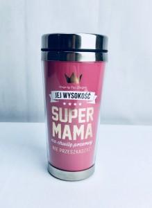 """Prezenty dla Mamy - Kubek termiczny """"Super Mama"""""""