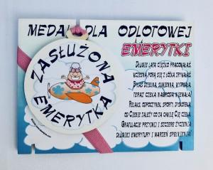 """Prezenty na emeryturę - Medal """"Emerytura"""""""