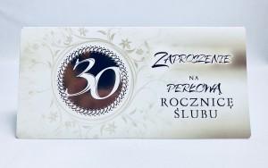 Zaproszenia na rocznicę - Zaproszenia na 30 Rocznicę Ślubu / ZRS 0230