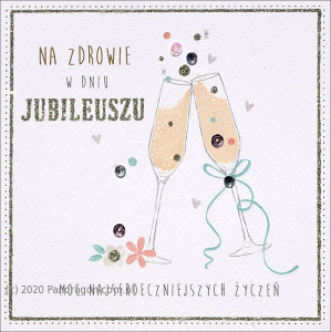 Kartki na jubileusz - Karnet jubileusz / HM-100-590