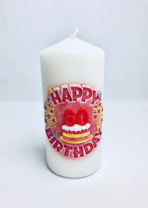 Prezenty dla dorosłych - Świeczka Happy Birtday 60, 70x150
