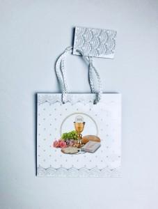 Opakowania na prezenty Komunijne - Torebka prezentowa na I Komunię Świętą, mała