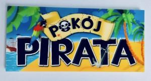 """Tabliczki na drzwi - Tabliczka na drzwi """"Pokój Pirata"""" - WYPRZEDAŻ"""