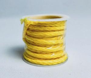 Sznurki dekoracyjne - Sznurek żółty / 2 m