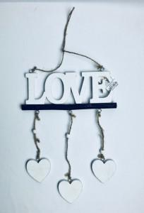 Napisy drewniane - Girlanda z love / LK1710030