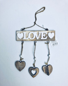 Napisy drewniane - Girlanda z love / LK1710033