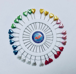 Agrafki i Szpilki dekoracyjne - Szpilki kolorowe serduszka