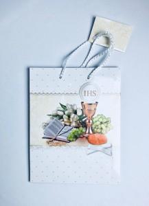 Pudełeczka i torebki prezentowe na Komunię - Torebka prezentowa na I Komunię Świętą, średnia / 001