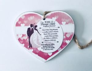 """Prezenty dla dorosłych - Tabliczka serce """"W Dniu Ślubu"""""""