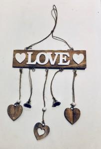 Napisy drewniane - Girlanda z love / LK1710034