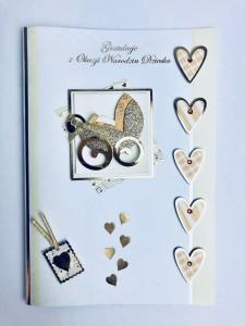 Karnety okolicznościowe - Kartka na Narodziny Dziecka / HM-400-1