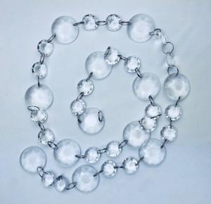 Girlandy kryształowe - Girlanda kryształowa, bezbarwna / 1m