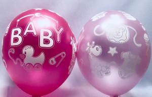 """Balony lateksowe z napisami - Balony na Narodziny dziecka lateksowe """"Baby Girl"""" / 1300115"""
